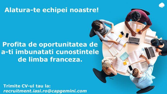 Capgemini oferă cursuri de limba franceză gratuit pentru poziția deCustomer Service Advisor