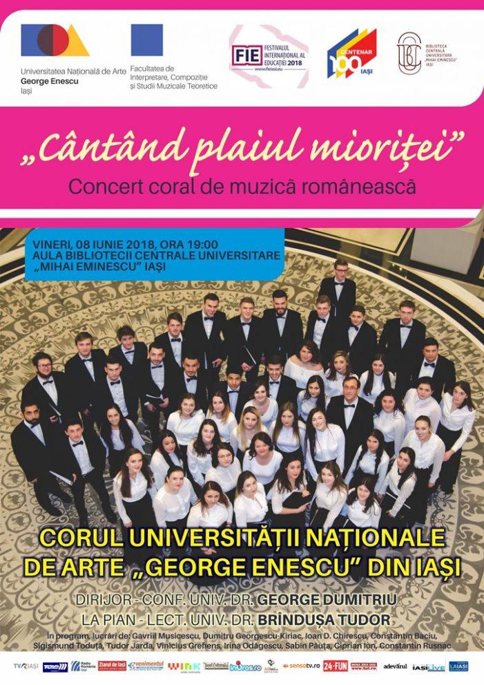 """Concert coral – Universitatea de Arte """"George Enescu"""""""