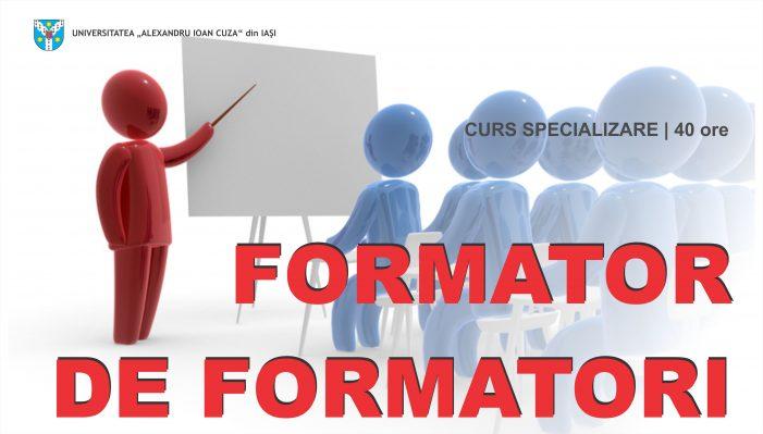 """Curs de perfecționare """"Formator de formatori"""" organizat de Centrul de Studii Europene"""