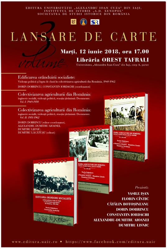 Lansare de carte și dezbatere despre edificarea orânduirii socialiste și colectivizarea agriculturii din România