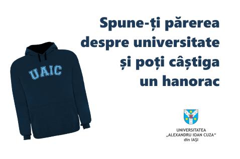 Completați chestionarul privind satisfacția studenților față de Universitate, ediția 2018!