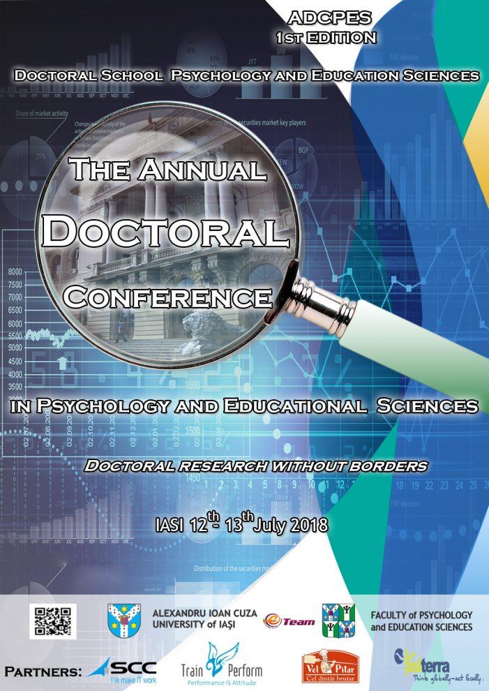 Prima ediţie a Conferinţei Anuale a Şcolii Doctorale de Psihologie şi Ştiinţe ale Educaţiei a luat sfârșit
