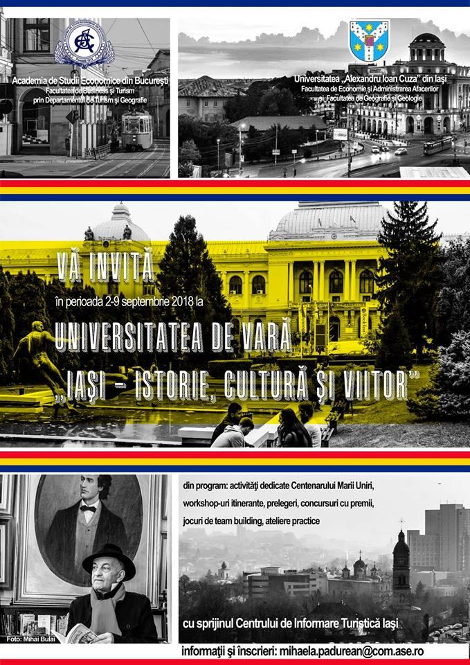 """Universitatea de vară """"Iaşi – istorie, cultură, viitor"""""""
