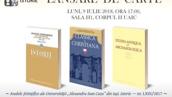 Lansarea celor mai recente numere ale revistelor Facultății de Istorie
