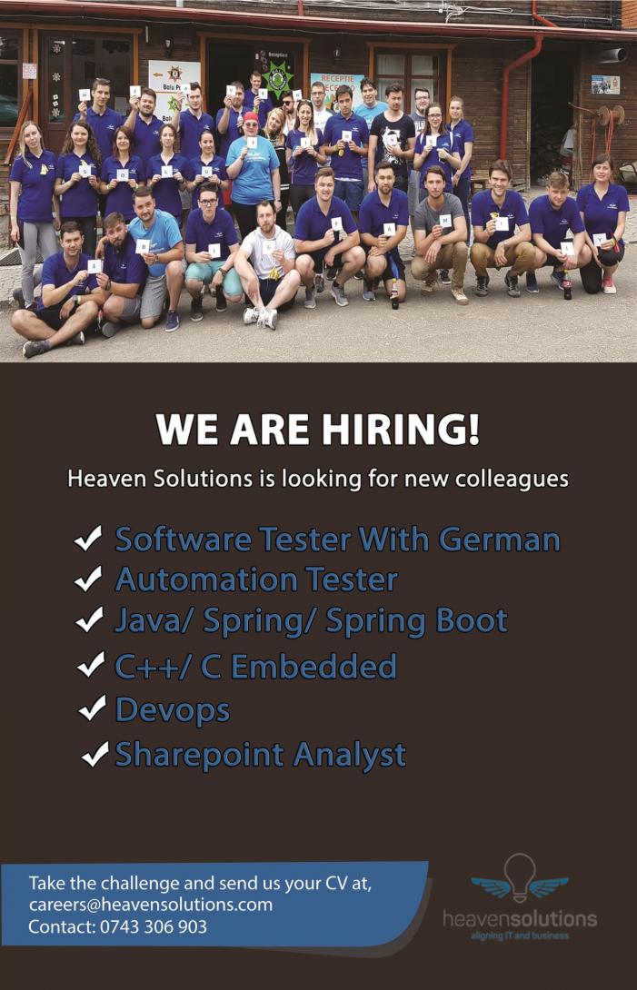 Heaven Solutions angajează