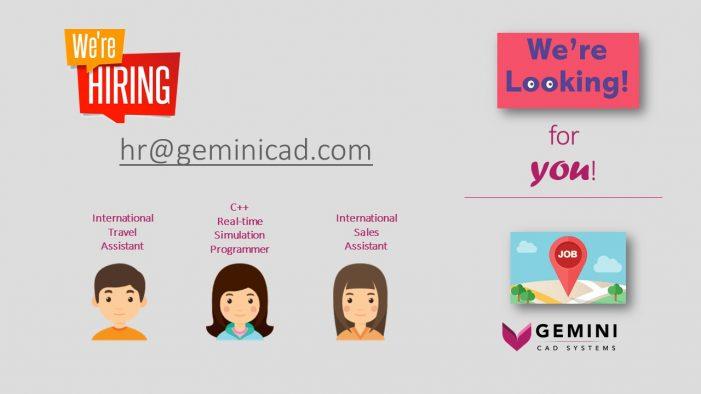 Gemini CAD Systems recrutează asistent de vânzări internaționale