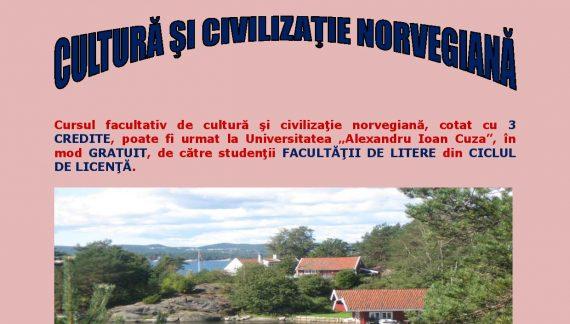"""Cursuri de limbă, cultură și civilizație norvegiană pentru studenţii Universităţii """"Alexandru Ioan Cuza"""""""