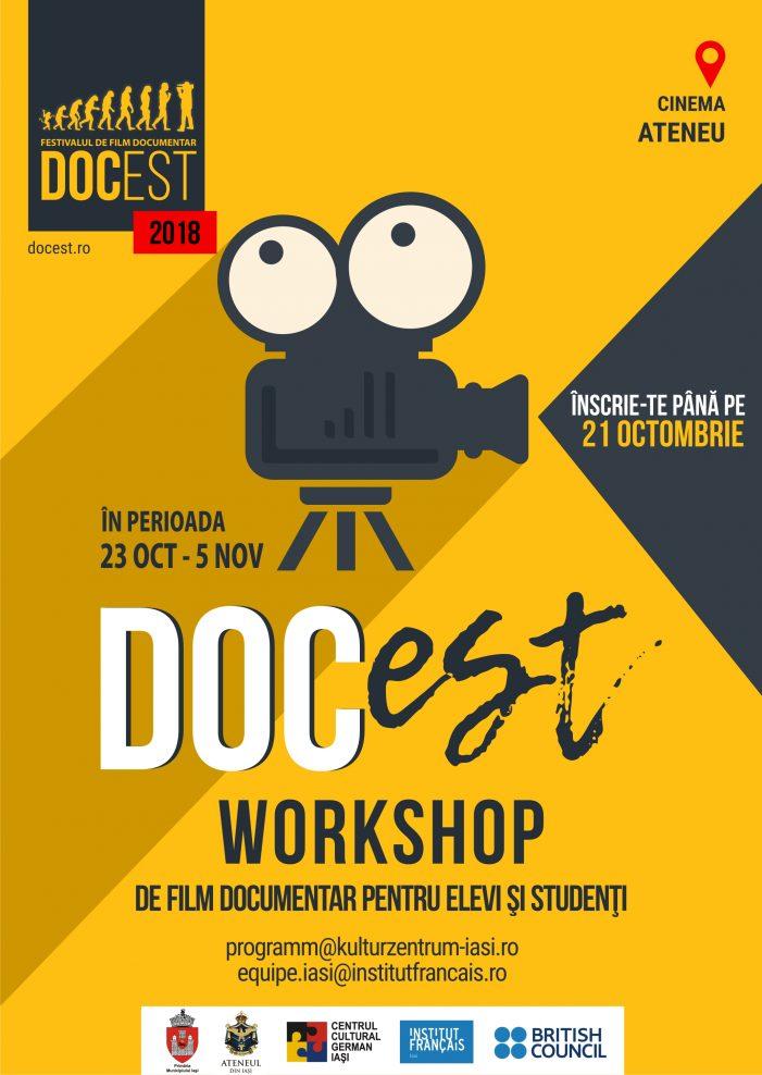 DocEst 2018. Înscrieri la workshop-uri de film pentru liceeni şi studenţi