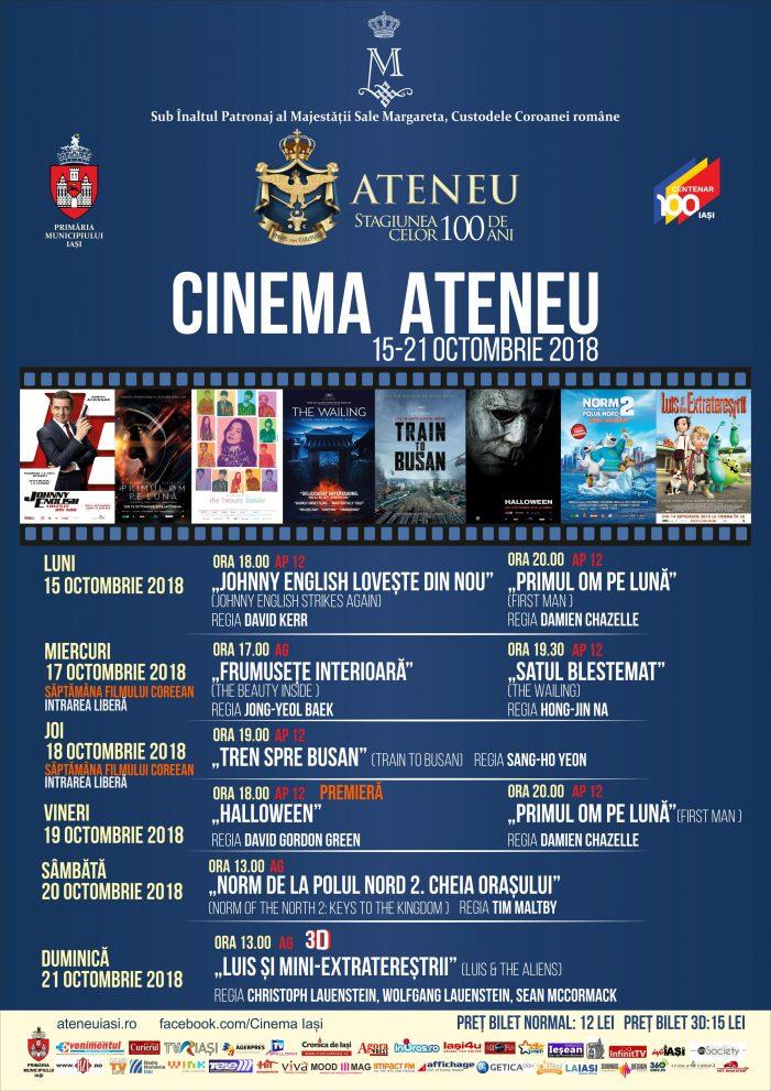 Programul cinematografului Ateneu în perioada 15-21 octombrie 2018