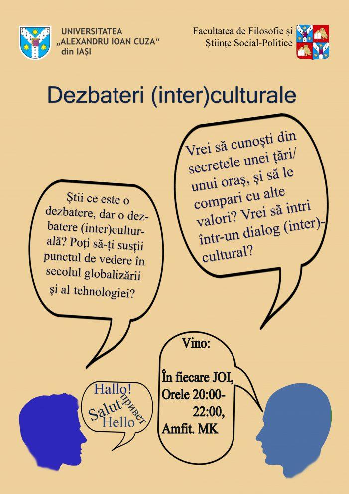 Dezbateri (Inter)culturale pentru  studenții UAIC