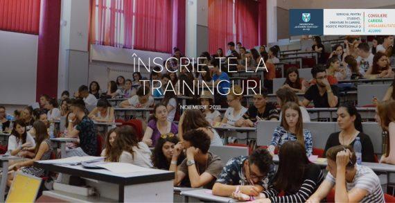 Traininguri gratuite în Noiembrie pentru studenții UAIC