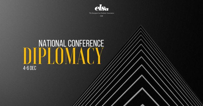 """ELSA Iași organizează conferința națională  """"Diplomația și Arta Negocierii"""""""