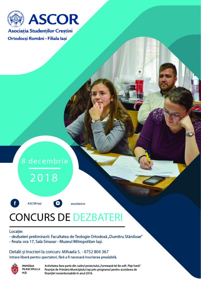Concurs de dezbateri la ASCOR Iași