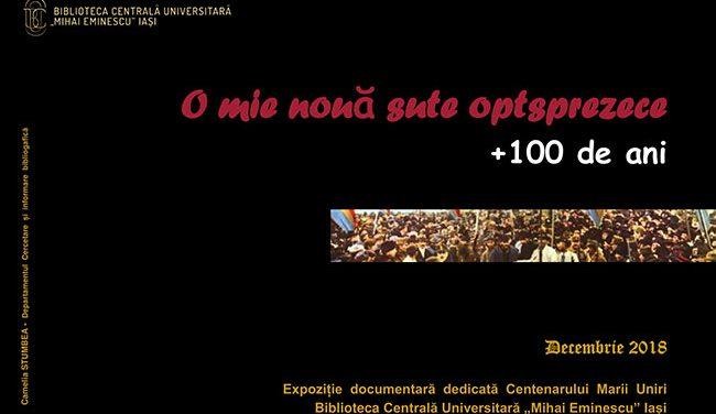 """Biblioteca Centrală Universitară """"Mihai Eminescu"""" organizează expoziția """"O mie nouă sute optsprezece + 100 de ani"""""""