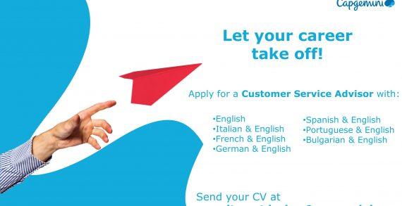Capgemini recrutează pentru postul de Customer Service Advisor