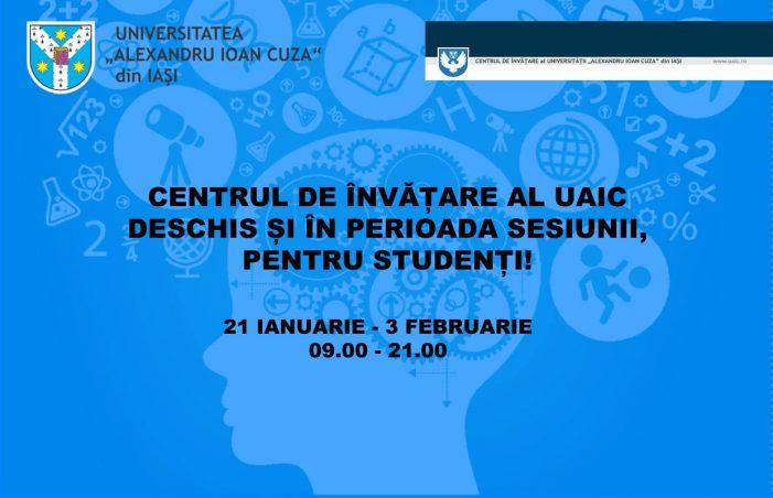 Centrul de Învățare al UAIC deschis și în perioada sesiunii