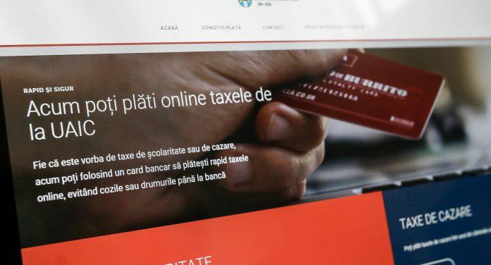 Studenții UAIC își pot achita taxele online