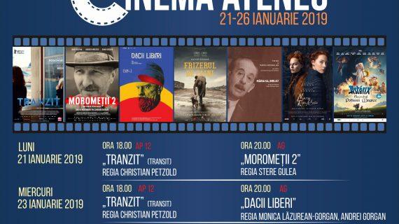 Programul cinematografului Ateneu în perioada 21-26 ianuarie