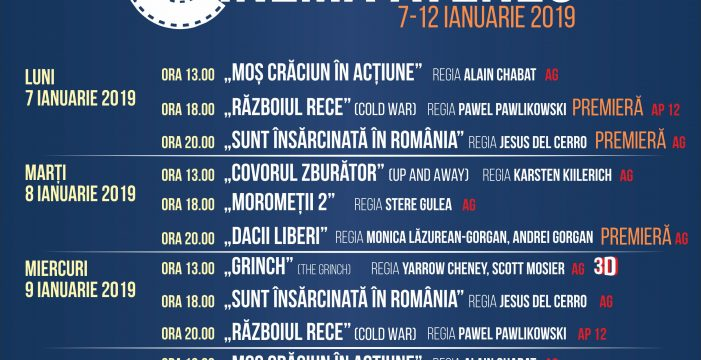 Programul cinematografului Ateneu în perioada 7-12 ianuarie 2019