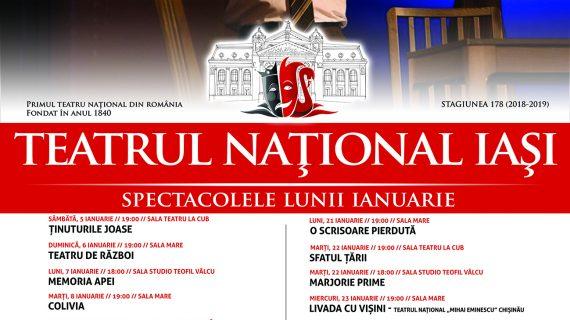 Programul lunii ianuarie la Teatrul Național din Iași