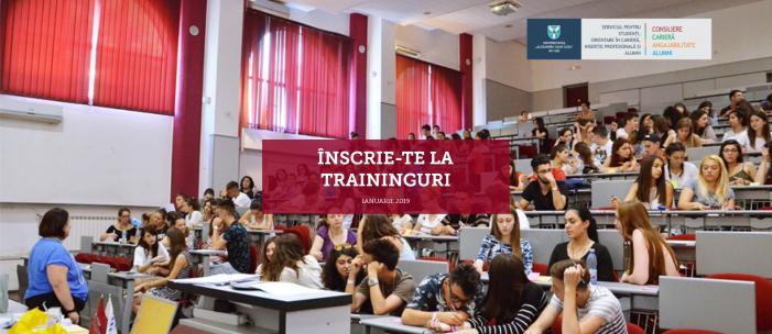 Traininguri gratuite pentru studenții UAIC în ianuarie 2019