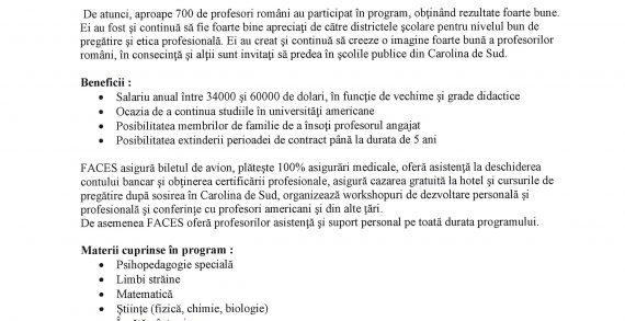 Oportunități de angajare în SUA pentru cadre didactice preuniversitare