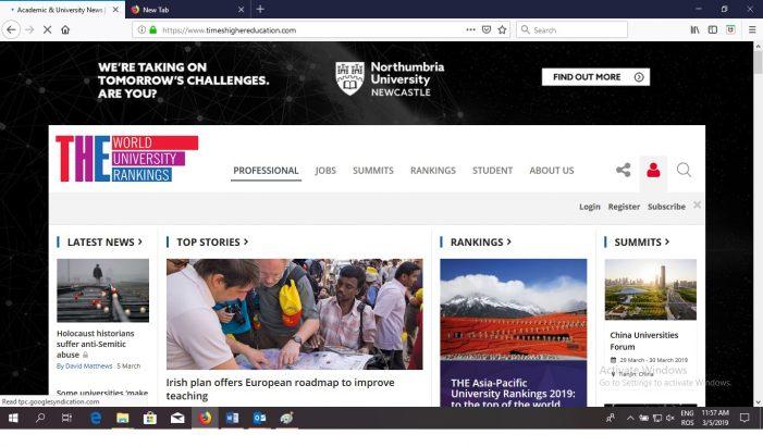 Acces gratuit la Times Higher Education pentru comunitatea UAIC