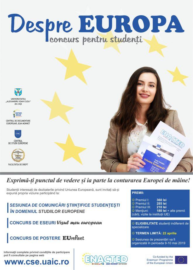 """""""Despre Europa"""" – concurs pentru studenți"""