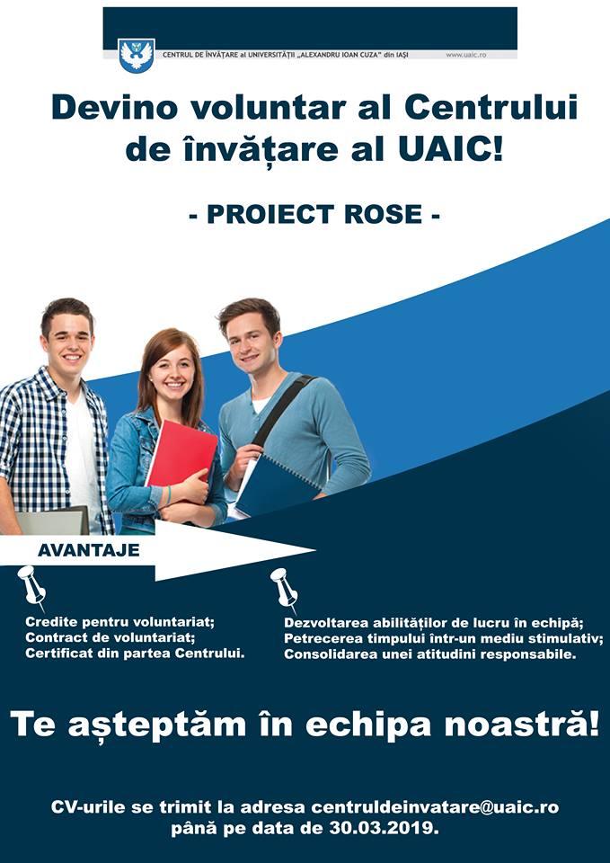 Devino voluntar al Centrului de Învățare al UAIC!