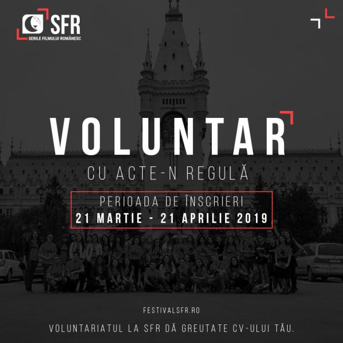 """Festivalul """"Serile Filmului Românesc"""" lansează înscrierile pentru voluntariat"""