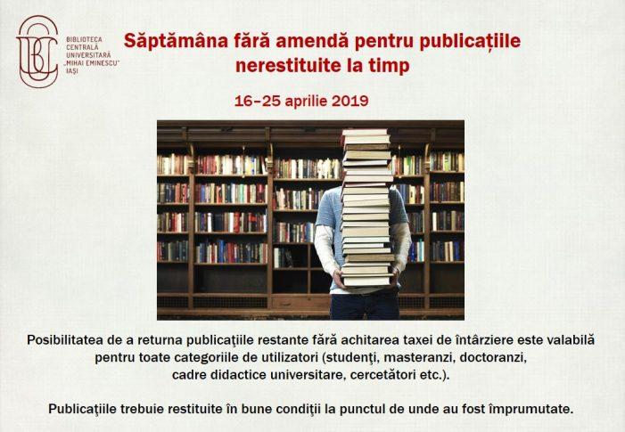 Săptămâna fără amendă pentru publicaţiile nerestituite la timp la BCU