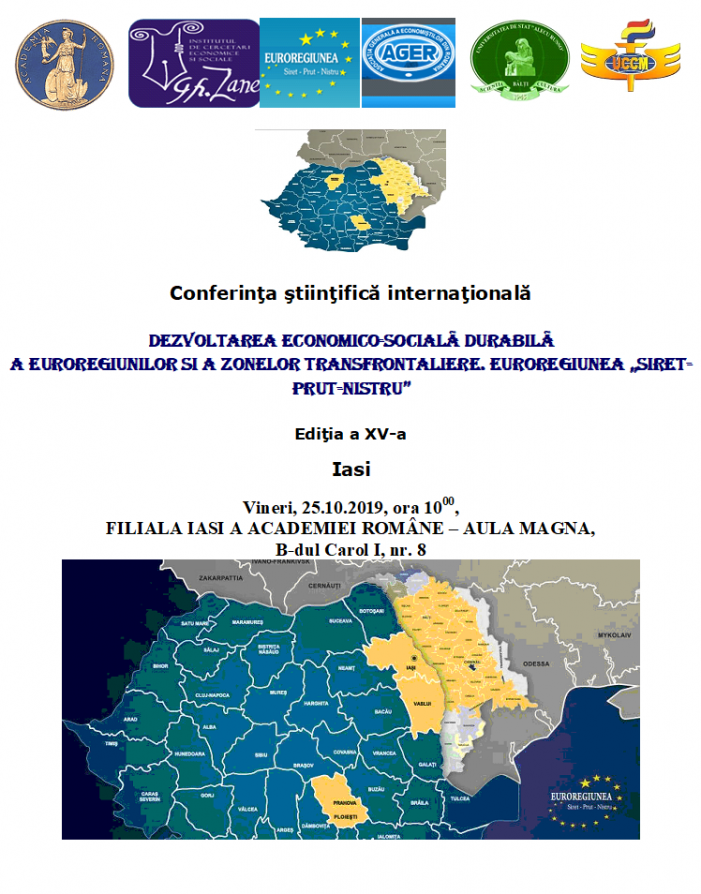 """Conferința internațională """"Dezvoltarea Economico-Socială Durabilă a Euroregiunilor și a Zonelor Transfrontaliere"""""""
