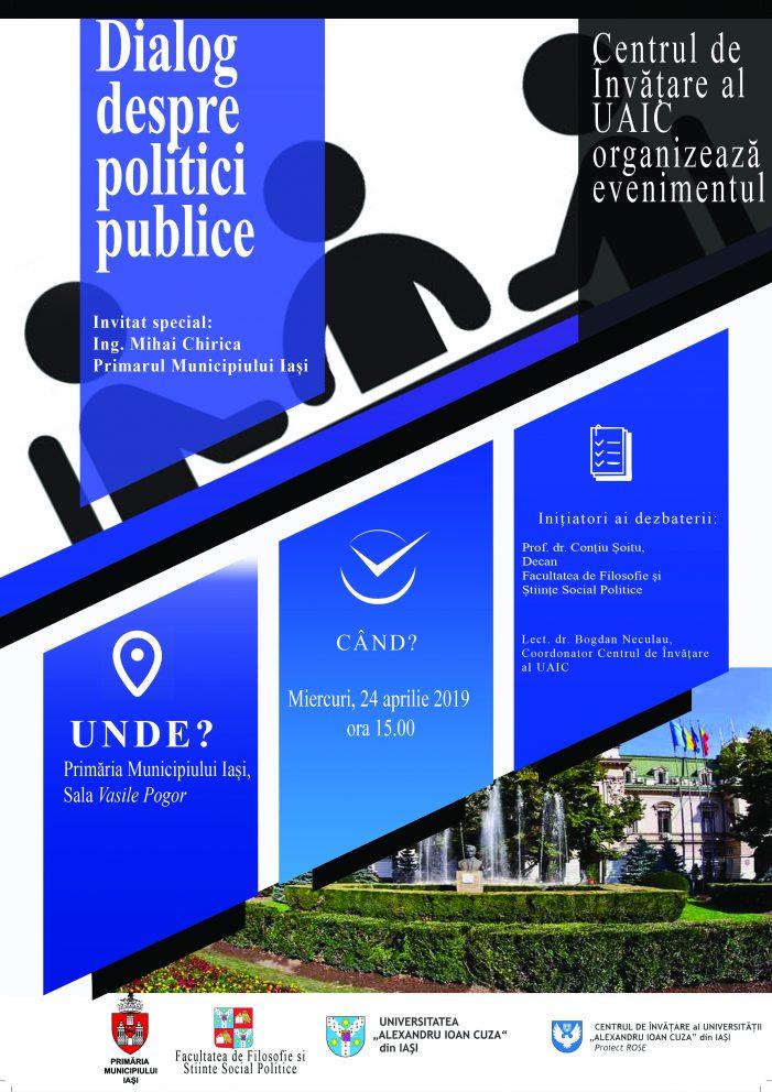 """Dezbaterea """"Dialog despre Politici Publice"""""""