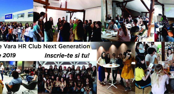 Școala de Vară HR Club Next Generation 1 – 12 iulie 2019