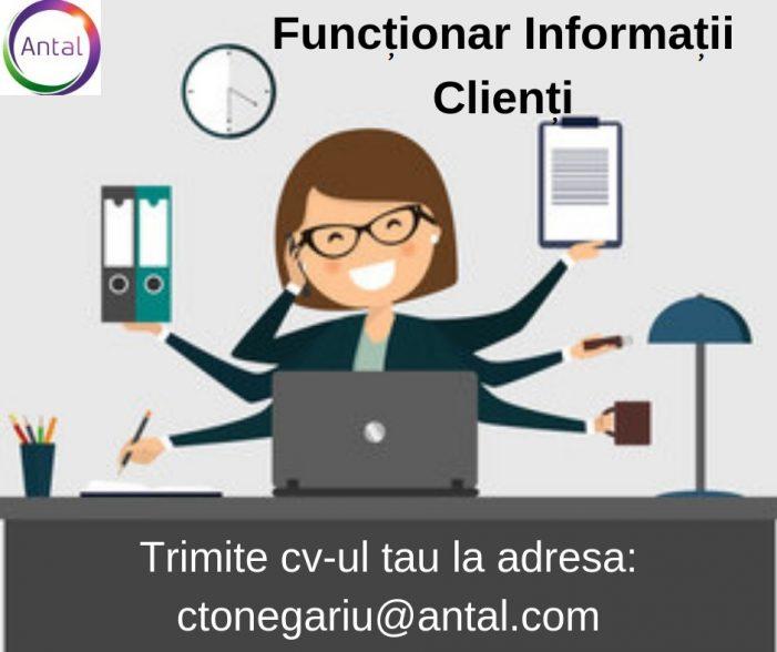 Antal International angajează Funcționar informații clienți