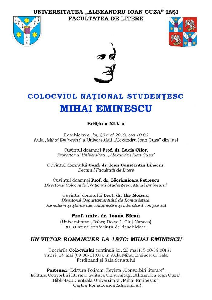 """Colocviul Naţional Studenţesc """"Mihai Eminescu"""""""