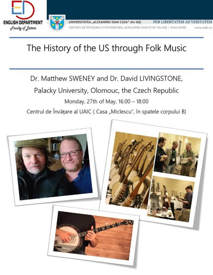 "Prelegerea-spectacol cu tema ""Istoria SUA prin muzica folk"""