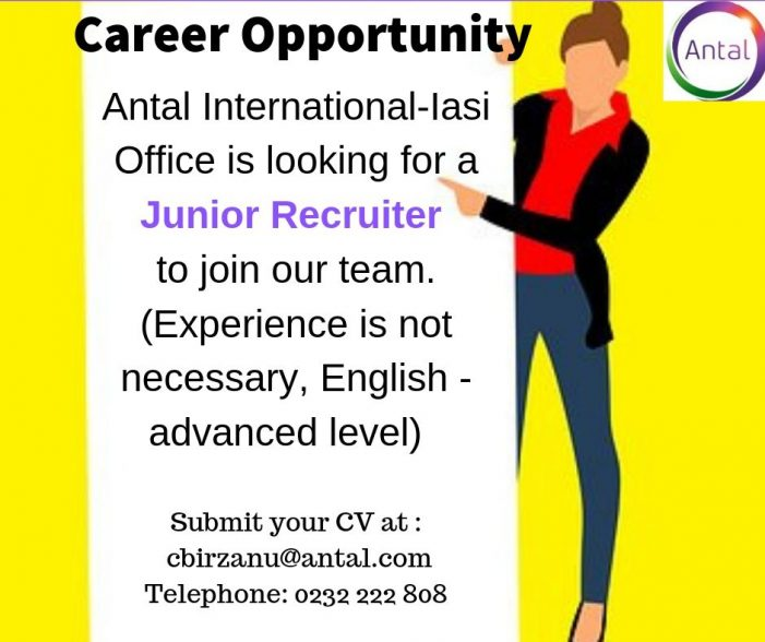 Antal International angajează Junior Recruiter