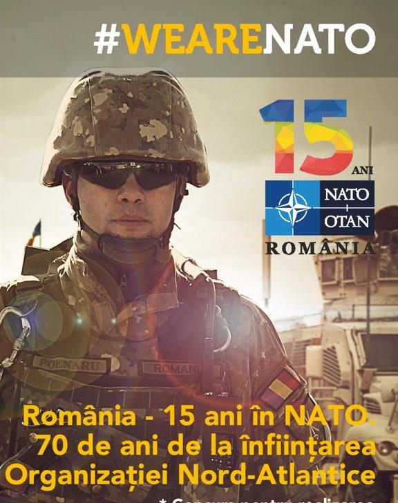 """Concursuri pentru studenți cu ocazia campaniei """"România – 15 ani în NATO.70 de ani de la înfiinţarea Organizaţiei Nord-Atlantice"""""""