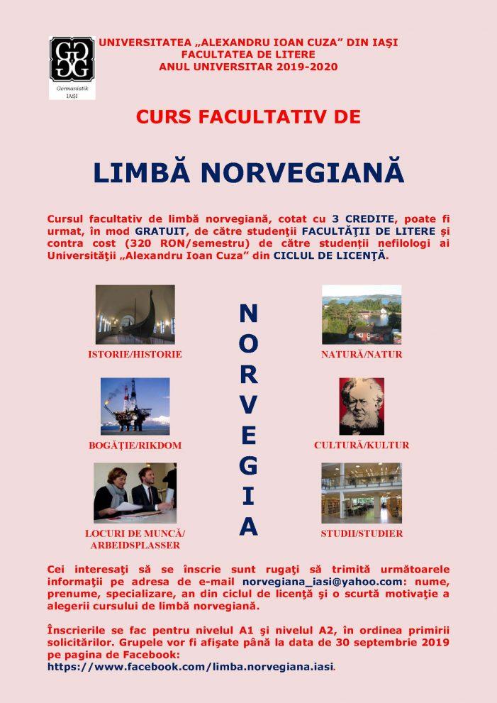 Cursuri facultative de limbă norvegiană pentru studenţii UAIC