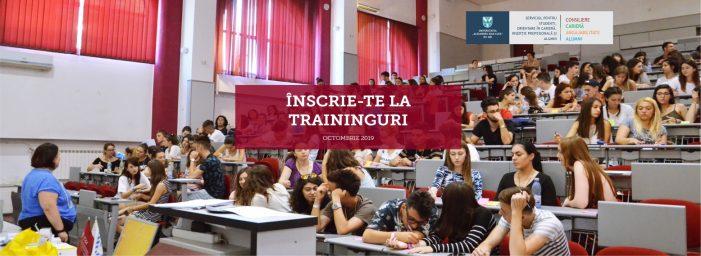 Traininguri gratuite pentru studenții UAIC în octombrie 2019