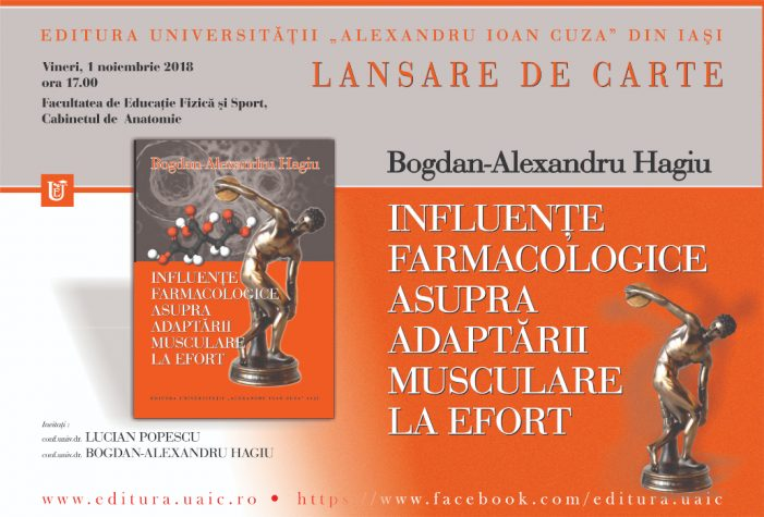 Lansare de carte la Facultatea de Educație Fizică și Sport