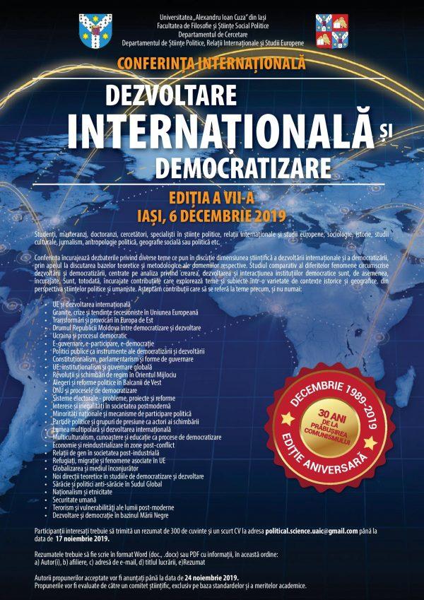 """Conferința internațională de științe politice """"Dezvoltare internațională și democratizare"""""""