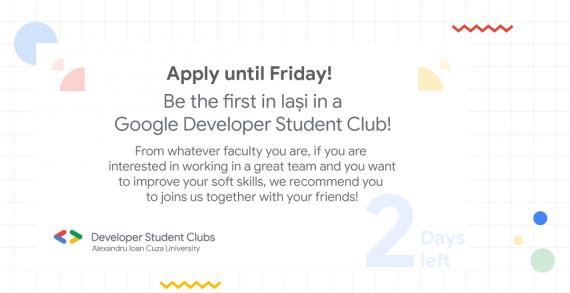 Vino în Google Developer Student Club UAIC