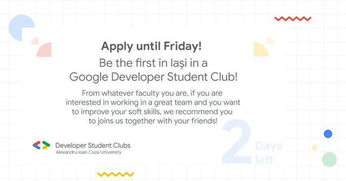 Vino în Google Developer Student Club UAIC