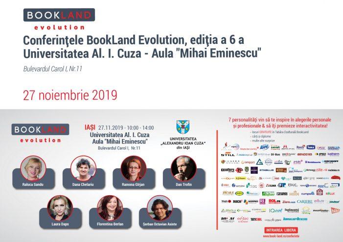 Conferințele BookLand Evolution revin în Iași, la UAIC!