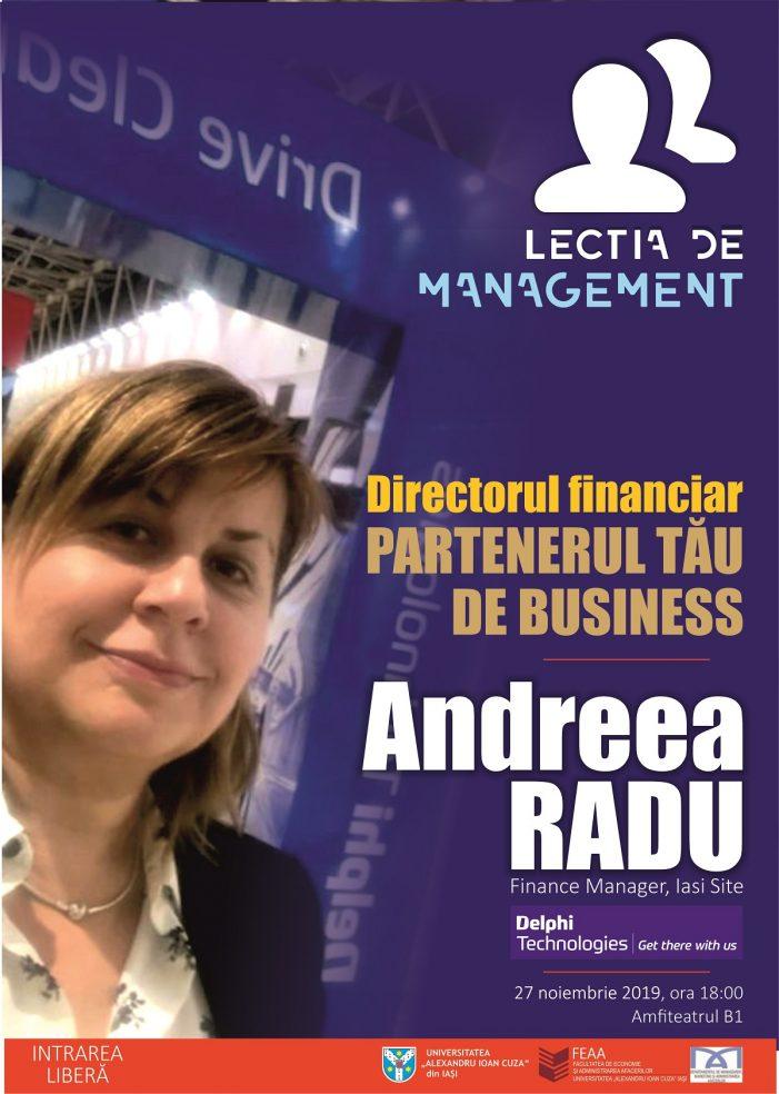 Lecția de management – ediția a XVIII-a: Directorul financiar – partenerul tău de business
