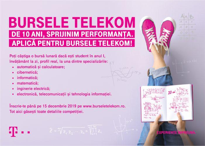 """Telekom România susţine performanţa tinerilor în educaţie prin programul """"Bursele Telekom"""""""