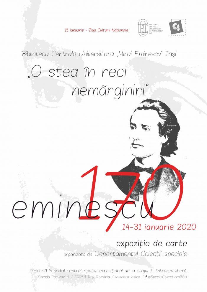 """Expoziţia de carte la BCU: """"O stea în reci nemărginiri"""" – Eminescu 170"""