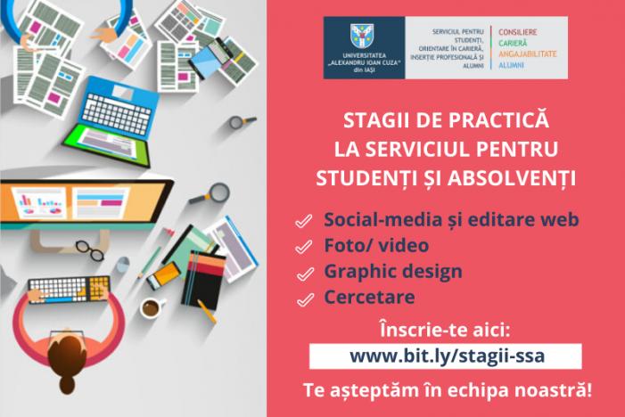 Stagii de practică la Serviciul pentru Studenți și Absolvenți din cadrul UAIC